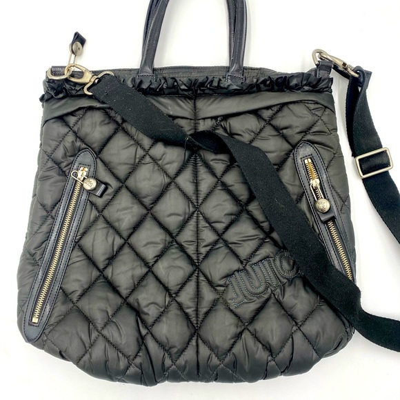 Juicy black quilted crossbody bag